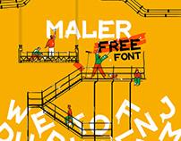 Maler – Free Display Brush Font