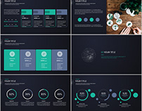 Best black simple report PowerPoint template