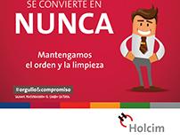 "Afiche ""Mi trabajo mi casa"" para Holcim Argentina"