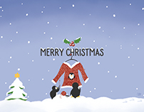Christmas Card 'Knitting Penguins'