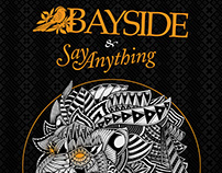 Bayside & Say Anything Tour Poster