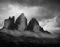 The Dolomites. Inspired by Ansel Adams.