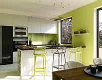 Green Kitchen / Interior Design