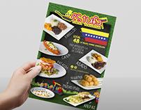 Fotografia y diseño menu arepas