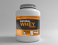 Whey Nutrition Container Mockup