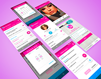 App for beauty specialists (Material Design)