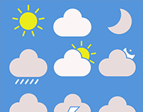 Weather iOS application icons