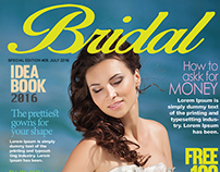 Free Bridal Magazine Cover PSD Template