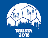 Russia 2018 World Cup vector art