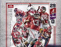 Alabama Football 2018 Game Win Posters