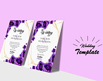 Wedding poster and Flyer Mockup Free Download