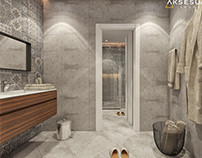 Modern basement bathroom design