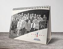"""""""DINERAS"""" 2017 m. stalo kalendoriaus dizainas"""