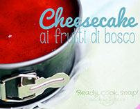 Cheesecake ai frutti di bosco • food photography