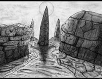 The three dolmens