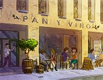 Artist impressions Pan y Vino