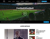 Sports blog landing page design