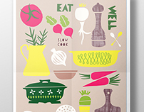 Eat Well, Slow Cook Poster