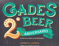Cartelería: Gades Beer 2º Aniversario