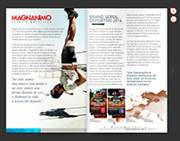 Online magazine . Revista en línea