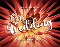Free Font of the Week - Hello Wedding