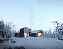 The project of a modular house. Render for So_Zdanie.