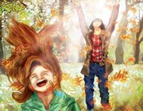 Peppermint & Marcie Digital Illustration