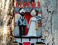 A CINEMA WEDDING DECOR