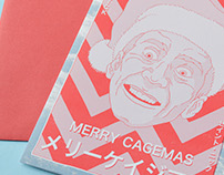 "Nicolas Cage ""Cagemas"" Greeting Card."