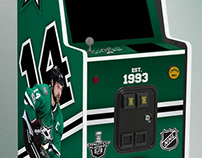 Dallas Stars - Arcade Console, Art Layout
