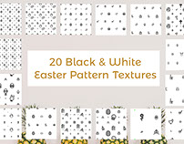 20 Free Colorless Easter Pattern Textures