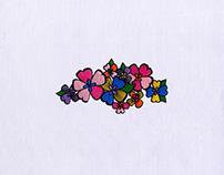 Vibrant Flowers Digital Embroidery Design
