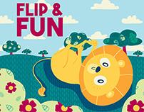 Lionel Lion's Flip & Fun - Quiet book