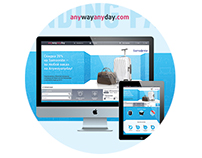 Anywayanyday & Samsonite landing page