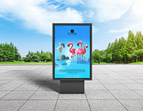 City Park Outdoor Advertisement Billboard Poster Mockup