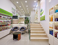 Riham Ezzat Pharmacy for NF interior designs.