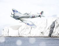 Spitfire in Snow - Christmas Card
