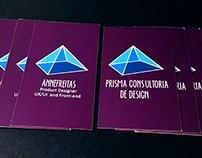 Cartão de visitas para a Prisma Consultoria de Design