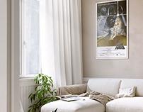 Fan boy livingroom Interior Render