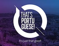 That's Portuguese!