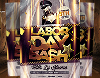 Labor Day Bash Flyer Template