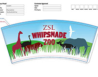 Whipsnade Zoo 12oz Double Walled Cup Design