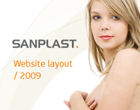 Sanplast website layout 2009