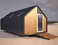 3D Visualization / Wood Cabin