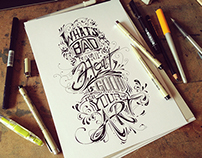 What's bad ... - Hand Lettering
