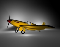 Airplane Mustang A36 – 3D model