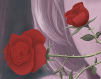 A garota e suas rosas