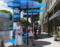 Big Blue Bus Shelters