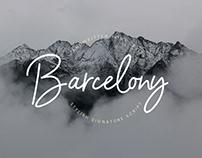 Free Barcelony Signature Font