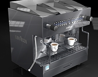 Restyling of a new espresso machine for Lavazza.